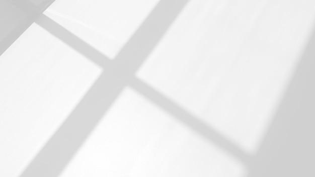 写真のモックアップ製品の壁のアートデザインのプレゼンテーションのための白い背景のオーバーレイ効果のウィンドウの有機的なドロップシャドウ