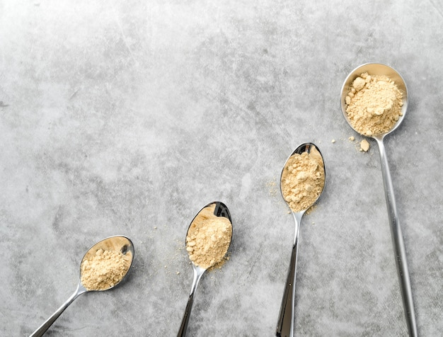 Organic food powder variety of spoons