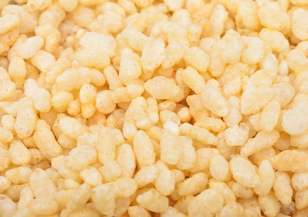 Organic fresh cereal granola rice flakes  macro texture