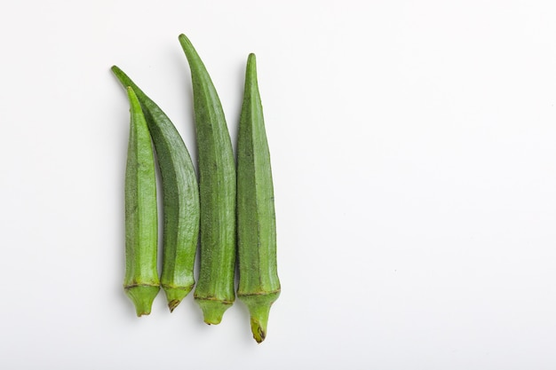 An organic and healthy okra or lady's finger