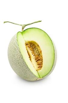 Organic japanese honeydew melon on white background