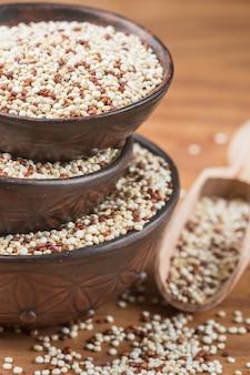 Organic mixed red and white quinoa
