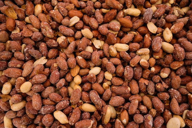 Organic peanuts background