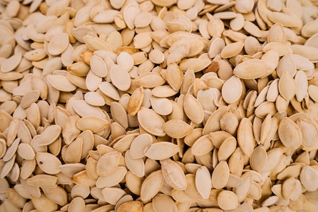 Organic pumpkin seeds background