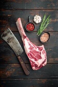 生の牛肉肉食品のオーガニックセレクショントマホークカット