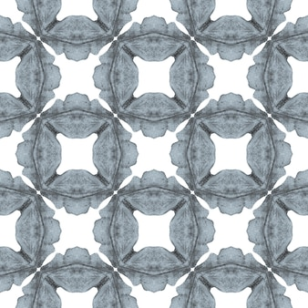 Organic tile. black and white amazing boho chic summer design. textile ready cute print, swimwear fabric, wallpaper, wrapping. trendy organic green border.