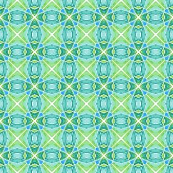 有機タイル。緑の驚くべき自由奔放に生きるシックな夏のデザイン。トレンディなオーガニックグリーンボーダー。テキスタイルレディパーフェクトプリント、水着生地、壁紙、ラッピング。
