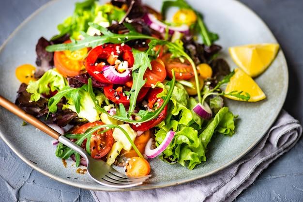 Organic vegetable salad