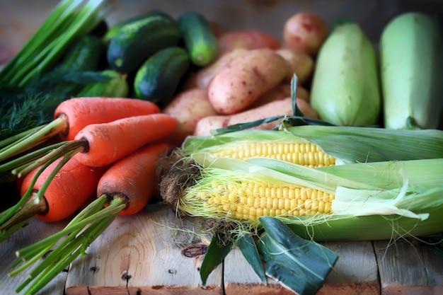 有機野菜ビーガンダイエット収穫