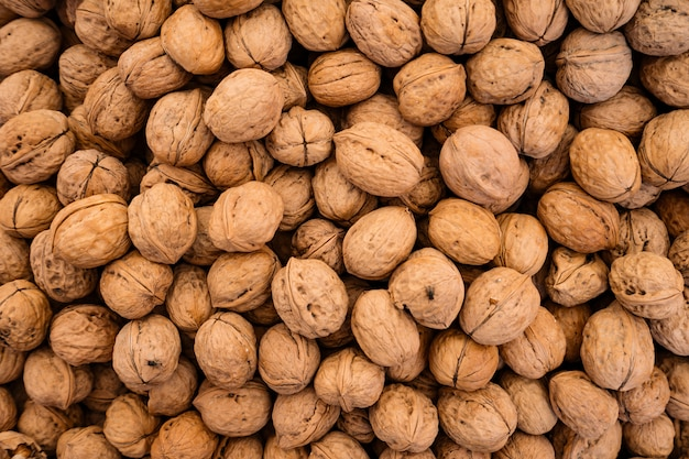 Organic walnuts background