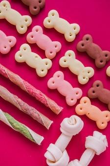 Organized cute dog snacks