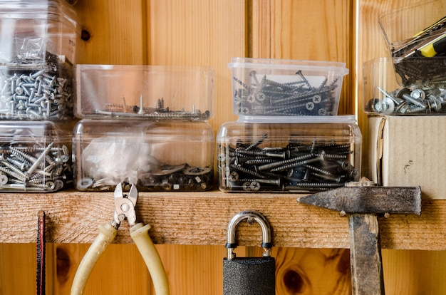 Organized wall of tools