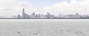 Oriental landscape ground pearl futuristic tower