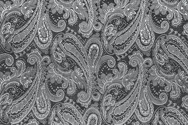 Восточный или пейсли, турецкий огурец, слеза аллаха, индийская или турецкая фасоль, персидский кипарис орнамент фоновой текстуры