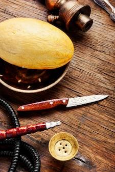 Oriental shisha with melon
