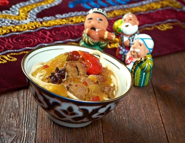 Восточный узбекский суп лагман - узбекская кухня