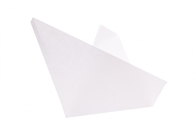 Origami paper boat isolated on white