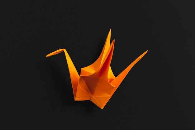 Origami papers close up