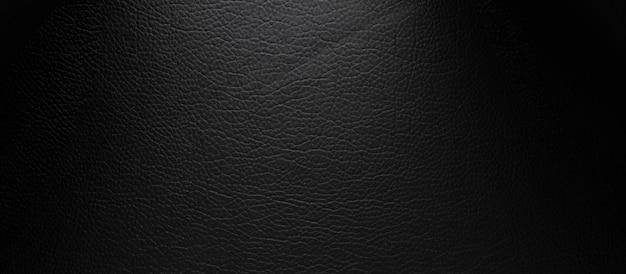 オリジナルの黒い革の質感の背景