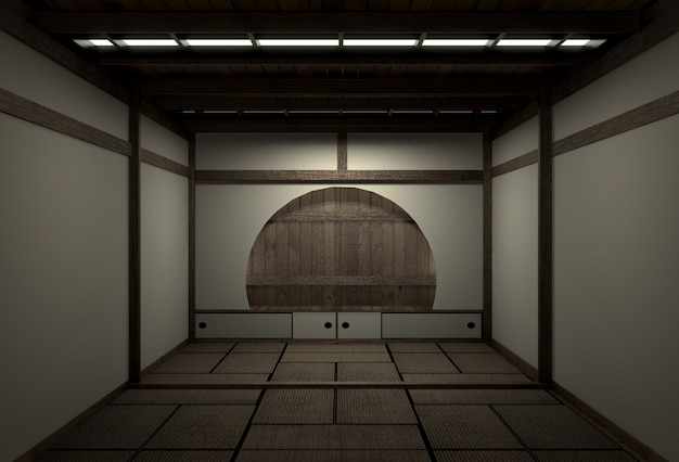 Original room japanese style, showa era , design with the best japanese room designers.3d rendering