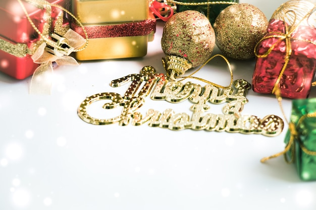 Ornament and christmas items decoration, merry christmas and happy new year.