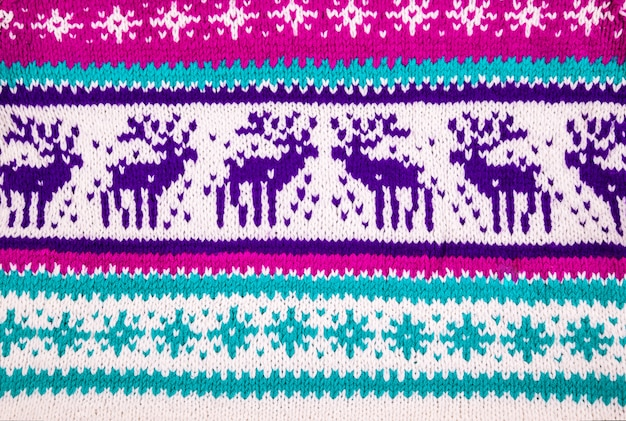 Ornament of a winter sweater with deer
