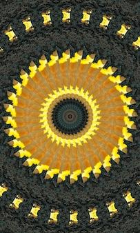 Декоративный декоративный калейдоскоп движение геометрический круг, абстрактный цветочный калейдоскоп, геометрический этнический бесшовный образец, замысловатый народный фон вертикальное изображение.