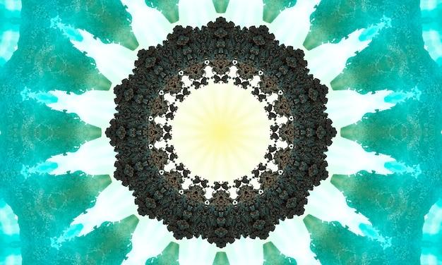 장식용 장식 만화경 운동 기하학적 원, 추상 꽃 만화경, 기하학적 민족 원활한 패턴, 복잡한 민속 배경.