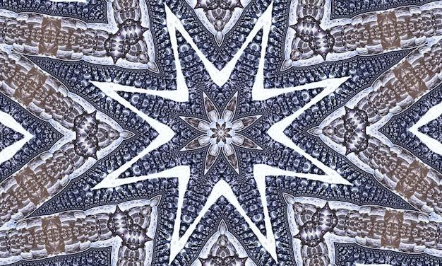 Орнаментальный декоративный калейдоскоп движения геометрический круг, абстрактный цветочный калейдоскоп, геометрический этнический бесшовный образец, замысловатый народный фон.