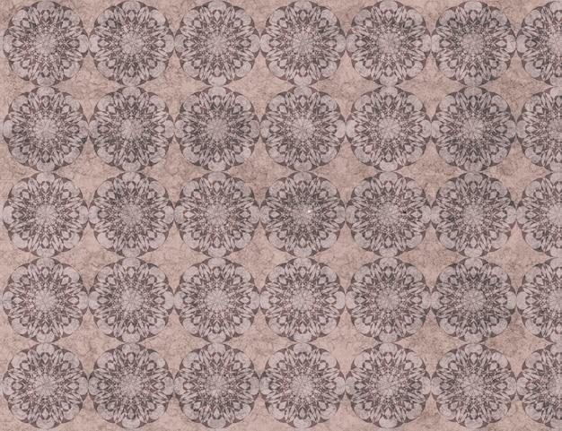 Ornamental textile floor