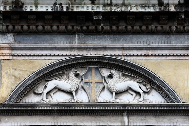 Ornaments on building in venice, italy