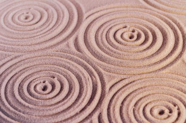 日本の禅庭の砂の装飾品、背景