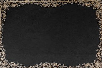 Ornate border design against black background for card