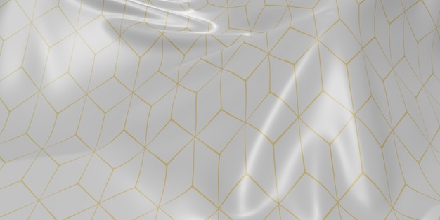 Изысканный флаг складывает волны ткани текстуры рисунка динамическая кривая полоса 3d иллюстрации