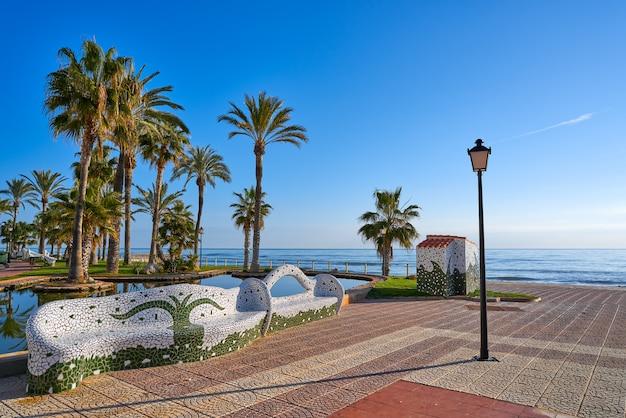 Oropesa de mar 해변 모자이크 벤치 공원