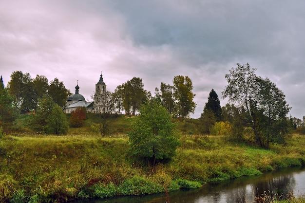 Orthodox church on the riverbank
