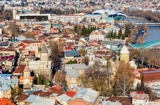 Orthodox churches in the old town of tbilisi, georgia
