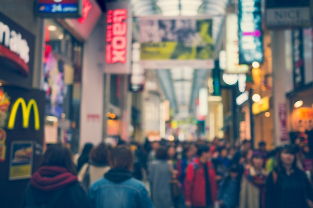 Osaka, japan - september, 1: the dotonbori street in the namba d