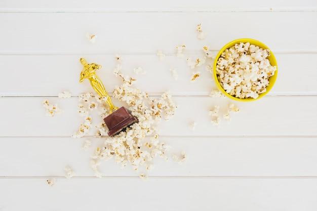 Oscar award in popcorn