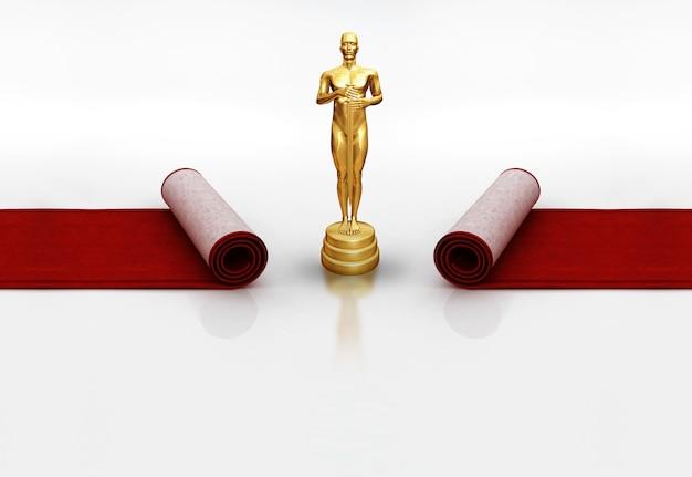 Oscars on red carpet