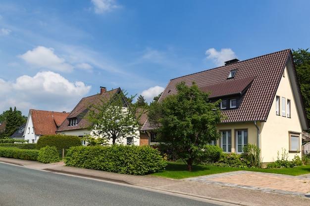 주에서 세 번째로 큰 도시인 오스나브루크 교외의 오스나브루크 니더작센 독일 거리