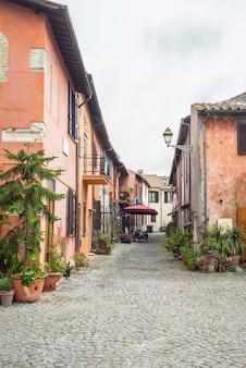 Детали в старом городке ostia, рима, италии.