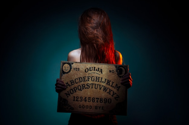 Ouija board for divination.