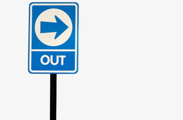 흰색 배경에 고립 된 방법 교통 표지