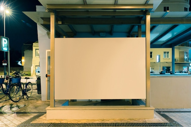 Outdoor advertisement for blank billboard in the city