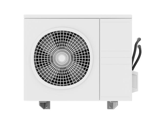 Вентиляция вентилятора наружного кондиционера, изолированные на белом фоне