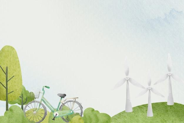 지속 가능한 공원 수채화와 야외 배경