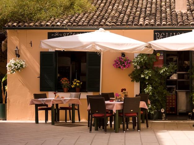 Outdoor café in corfu