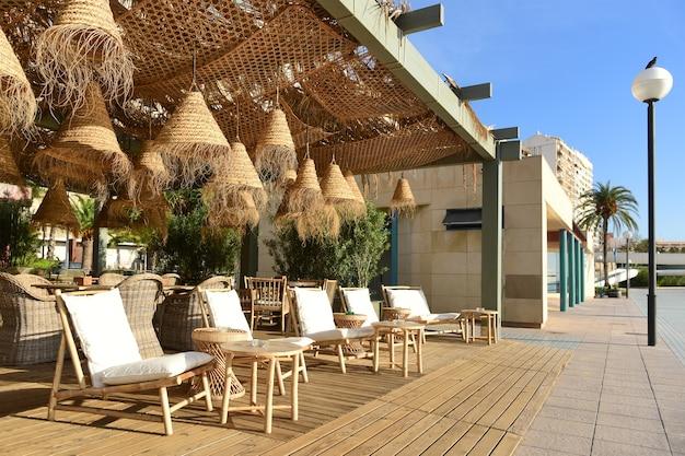 An outdoor cafe on the promenade alicante