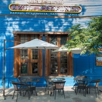 Outdoor cafe, santiago, santiago metropolitan region, chile